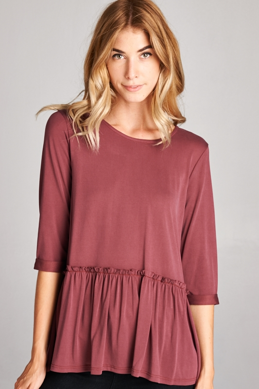 RUFFLE TOP - orangeshine.com