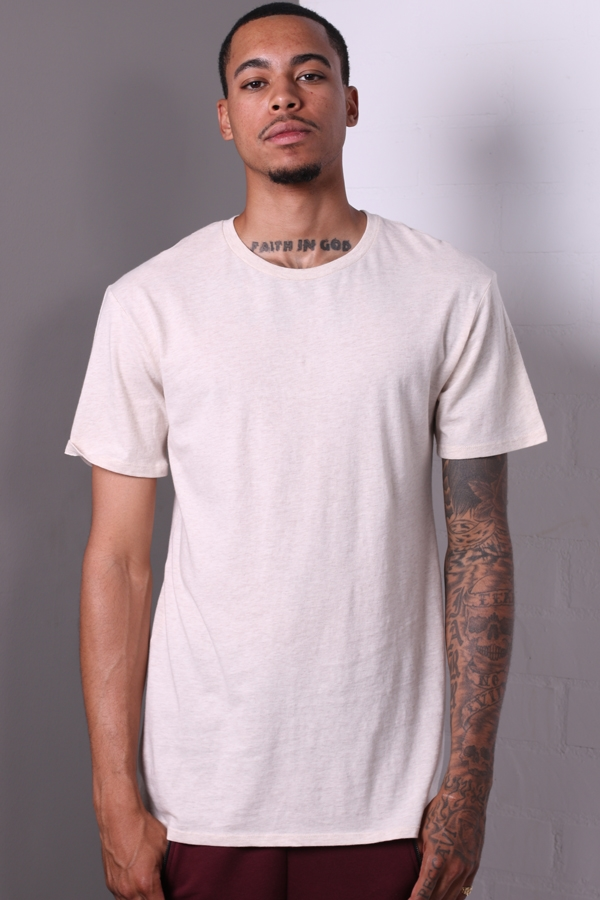BASIC EXTENDED T-SHIRT-BLACK - orangeshine.com
