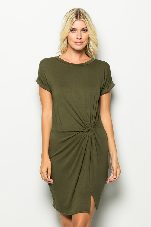 SIDE TWIST S/S TEE DRESS - orangeshine.com