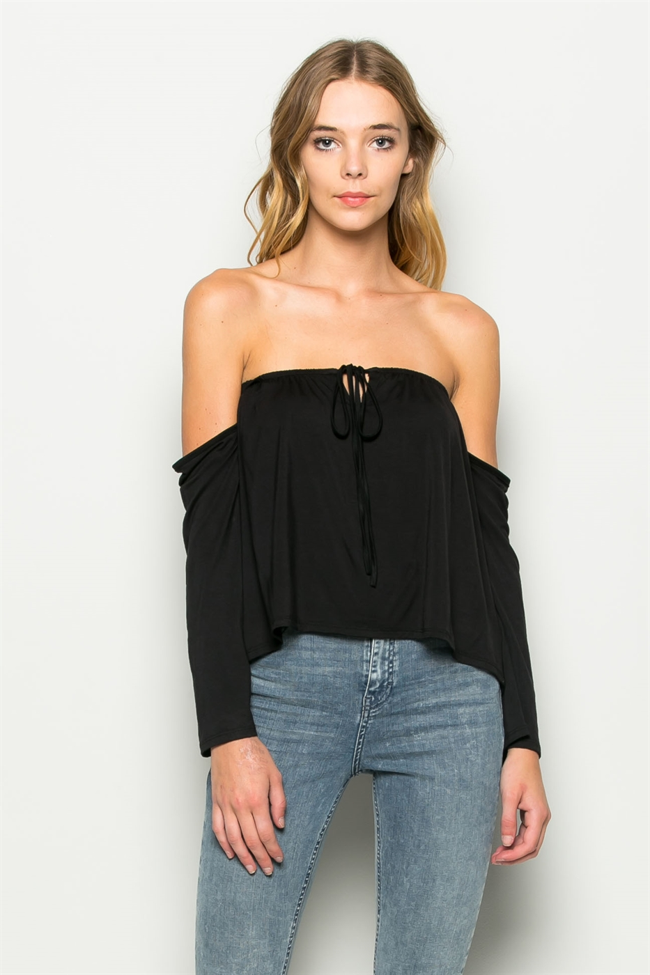 RAYON MODAL OFF SHOULDER TOP - orangeshine.com