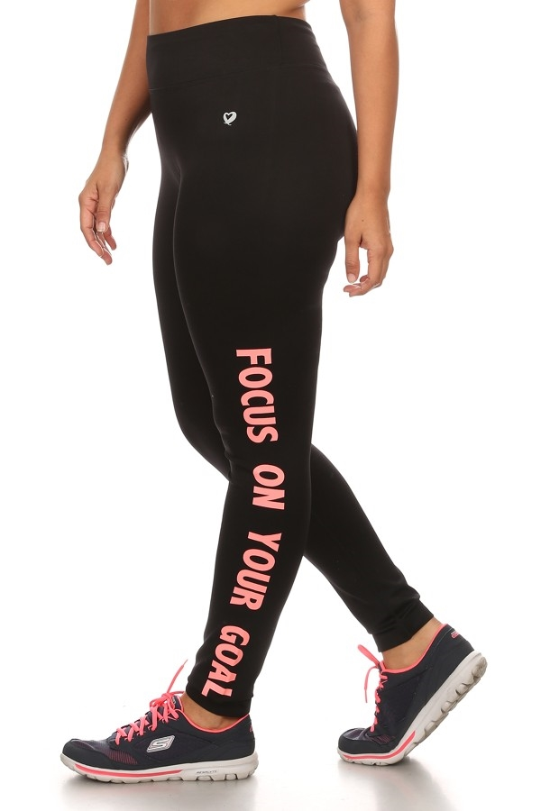 Plus Size Sport Leggings Black - orangeshine.com