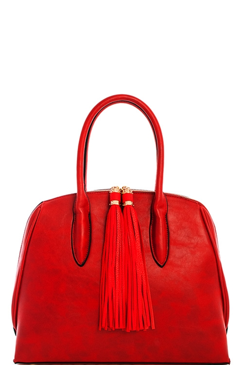 Fashion Double Tassel Satchel - orangeshine.com