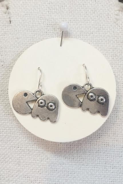 Cute Pac Man earrings - orangeshine.com