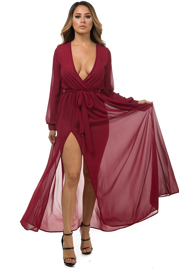 Wrap maxi dress - orangeshine.com