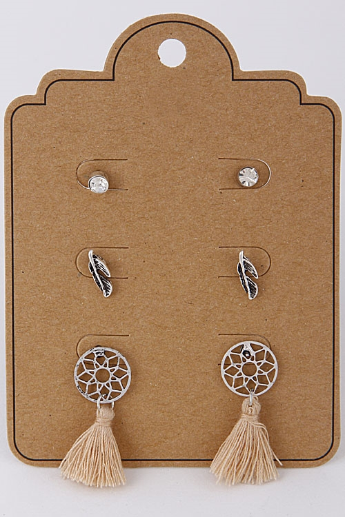 Earrings with Dream Catchers - orangeshine.com
