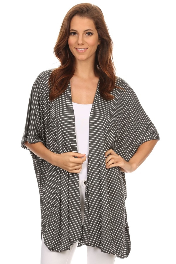 stripe knit cardigan - orangeshine.com