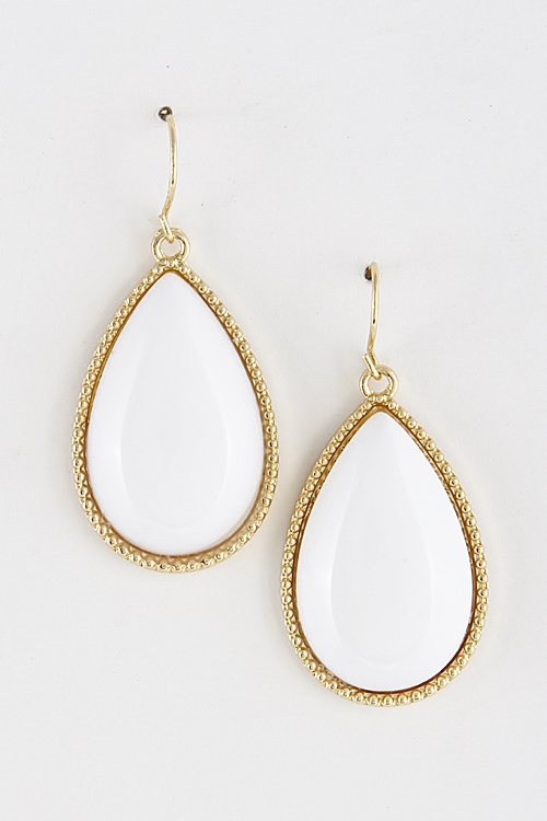 Antique Tear Drop Earrings - orangeshine.com