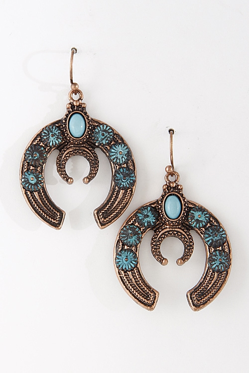 Crescent Hook Earrings - orangeshine.com