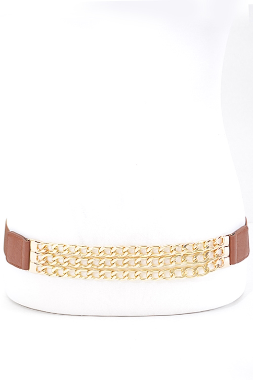 Triple Layer Chain Belt - orangeshine.com