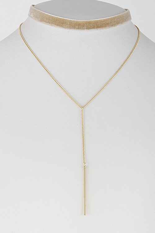 Simple Choker with Chain - orangeshine.com