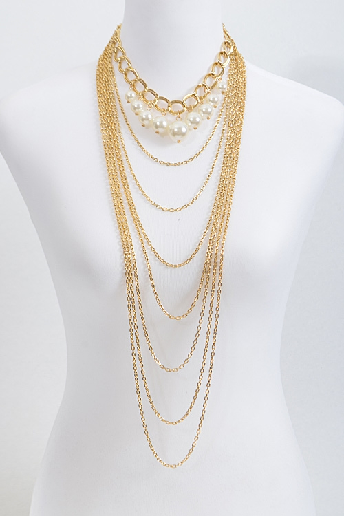 Multi Layer Thin Chain  - orangeshine.com