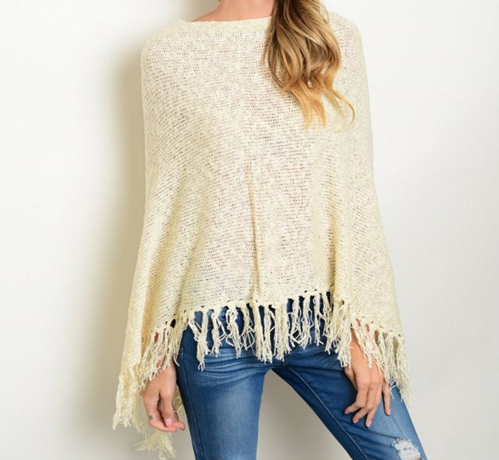 Grey Poncho - orangeshine.com