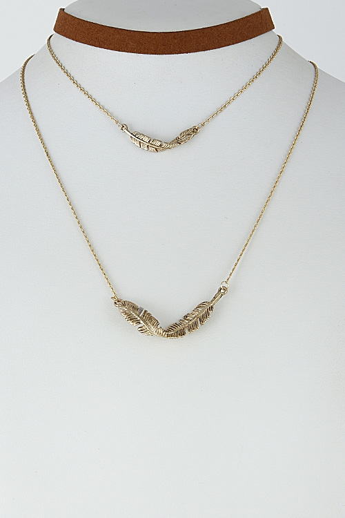 Multi Layer Leaf Choker - orangeshine.com