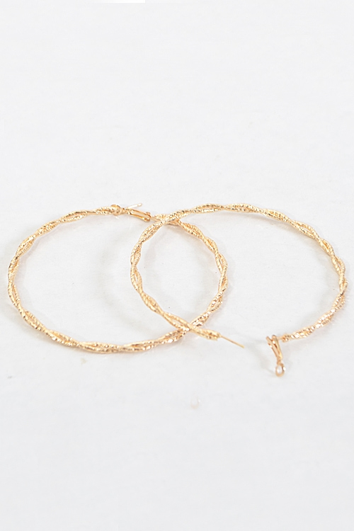 Twisted Simple Hoop Earrings - orangeshine.com