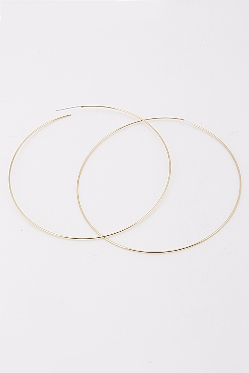 Simple Hoop Earrnigs - orangeshine.com