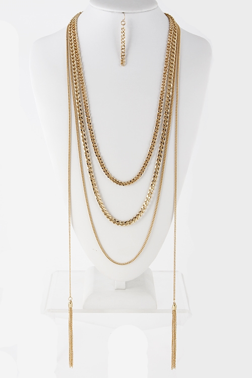 Three Layer Chain Necklace - orangeshine.com