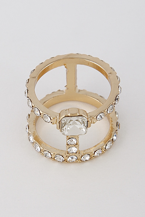Wrap Around Rhinestone Ring - orangeshine.com