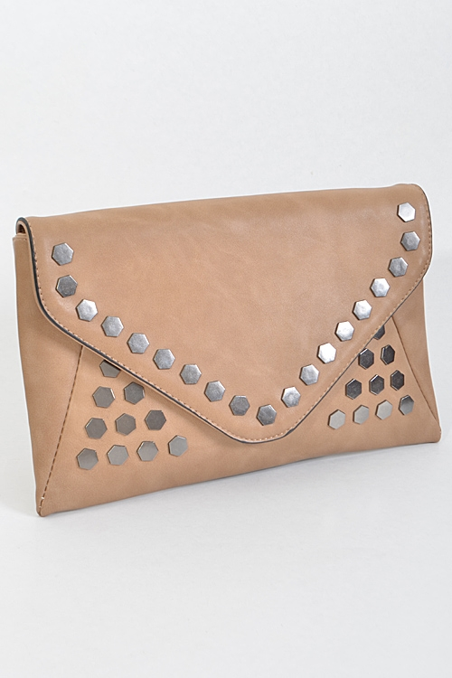 Hexagon Stud Envelope Inspired - orangeshine.com