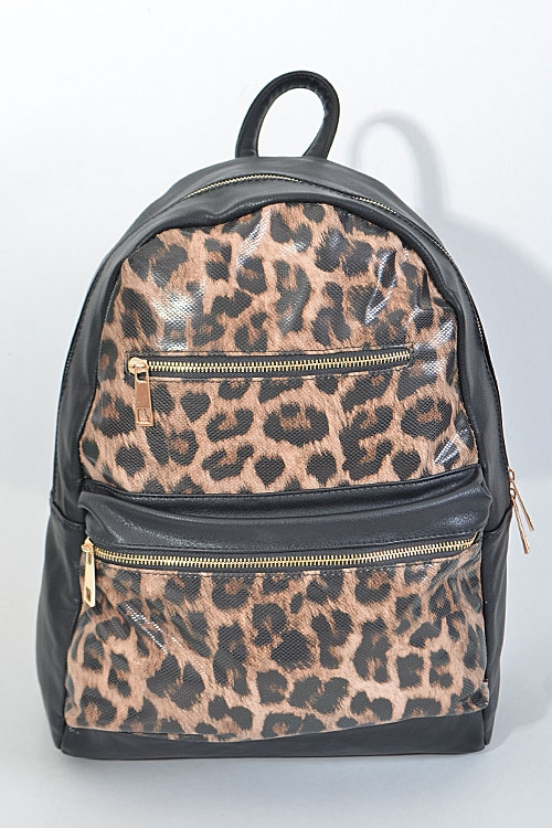 Leopard Patterned Multi Zip - orangeshine.com
