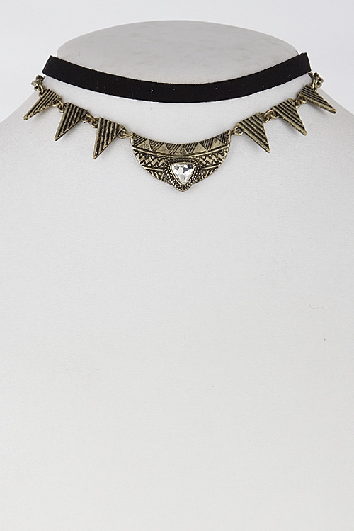 Simple Aztec Inspired Choker - orangeshine.com