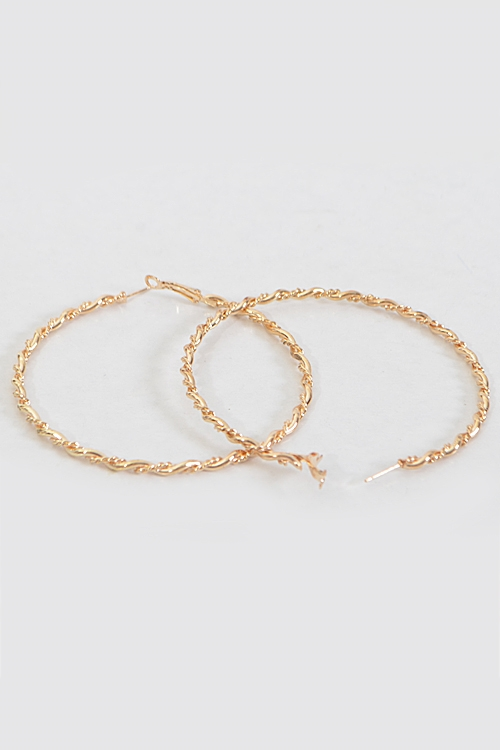 Formal Twisted Hoop Earrings - orangeshine.com