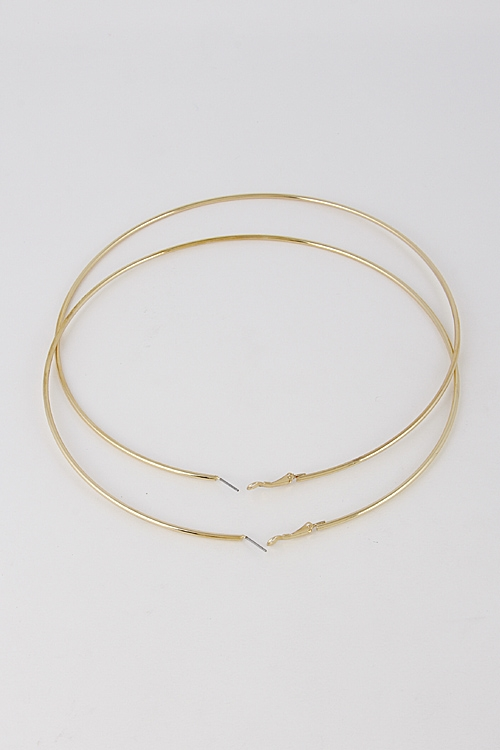 Long Hoop Earrings - orangeshine.com