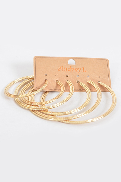 Triple Layered Hoop Earrings - orangeshine.com