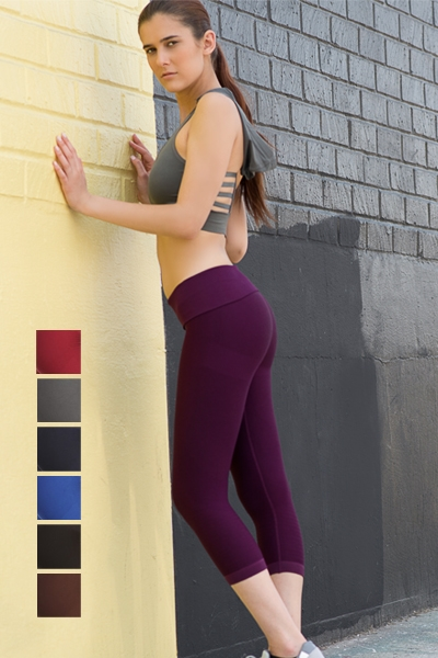 Activewear cropped leggings - orangeshine.com