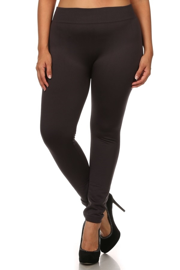 Thick Plus Size Fleece Legging - orangeshine.com