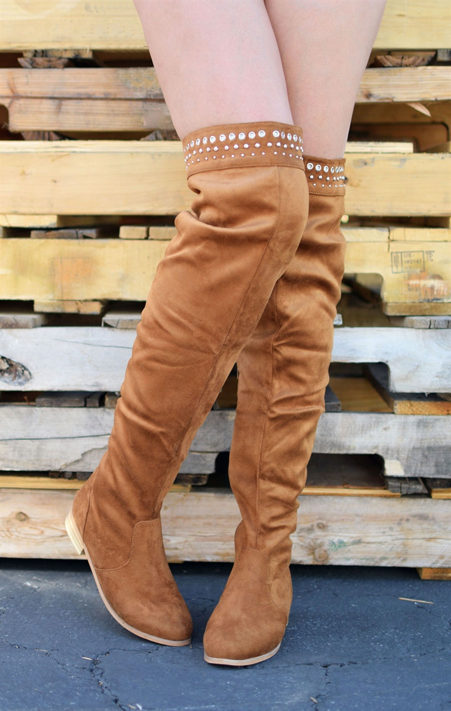 Over The Knee Flat Boots - orangeshine.com