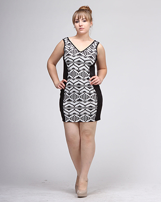 BLACK HIVE PRINT DRESS - orangeshine.com
