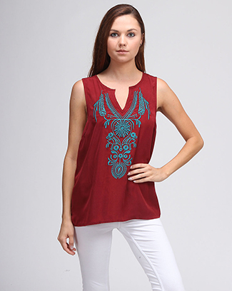 TRIBAL SLEEVELESS - orangeshine.com