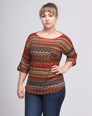ETHNIC PRINTED TOP - orangeshine.com