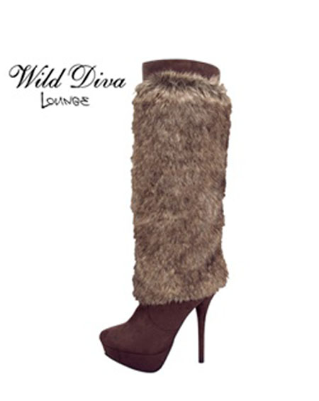 SOLID BOOTS WITH FUR - orangeshine.com