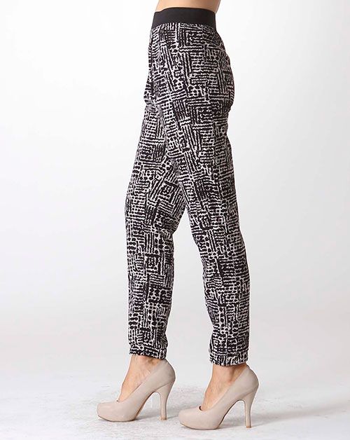 SMOCKED ANKLE JOGGER PANTS - orangeshine.com
