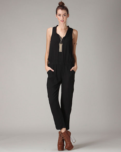 Zip-Up Jumpsuit - orangeshine.com