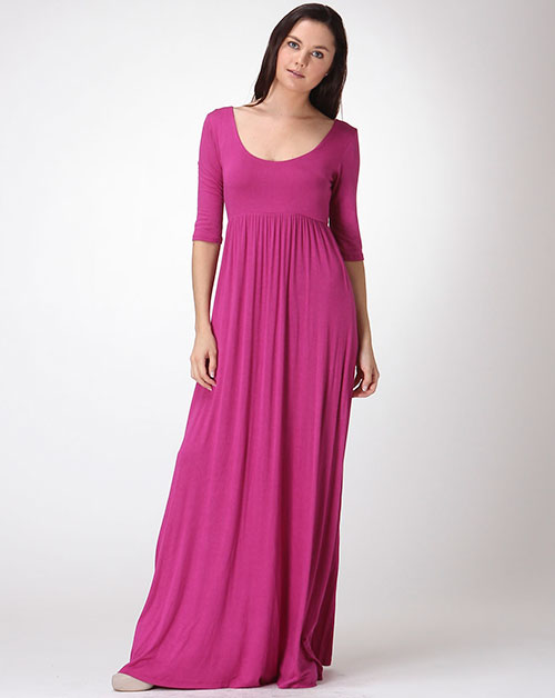 SOLID MAXI DRESS - orangeshine.com