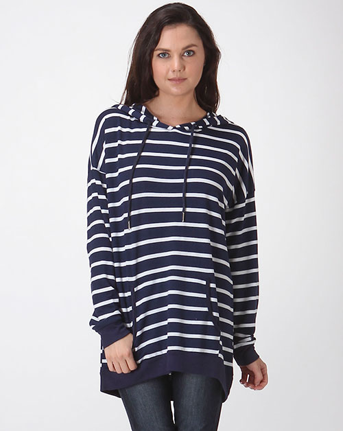 MODAL STRIPE HODDIES TOP - orangeshine.com