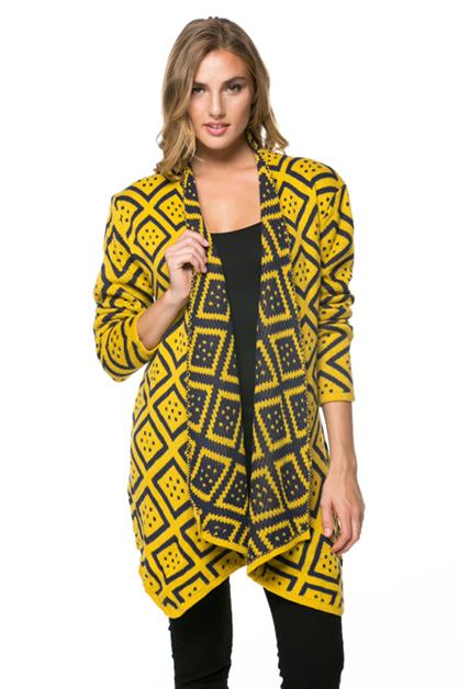 Oversized Draped Cardigan - orangeshine.com