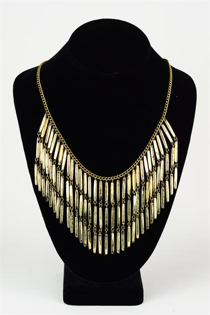 Chain Fringe Bar Necklace - orangeshine.com