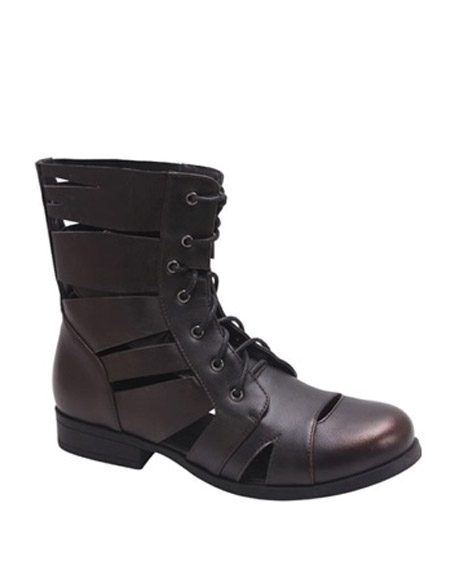 LACED CUT OUT BOOTS - orangeshine.com