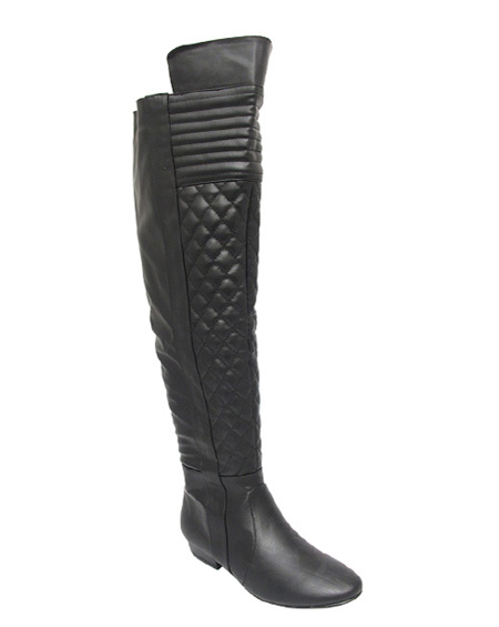 QUILTED KNEE HIGH BOOTS - orangeshine.com