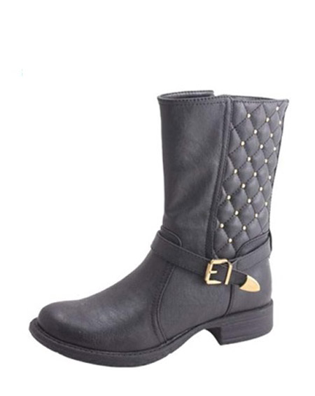 QUILTED ANKLE BUCKLE BOOTS - orangeshine.com