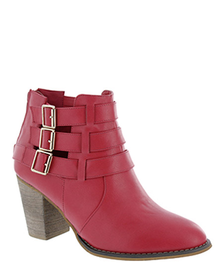 TRIPLE BUCKLED ANKLE BOOTS - orangeshine.com