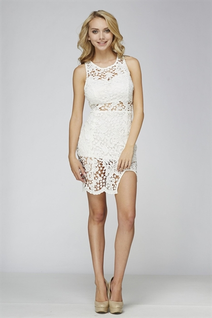 crochet lace dress - orangeshine.com