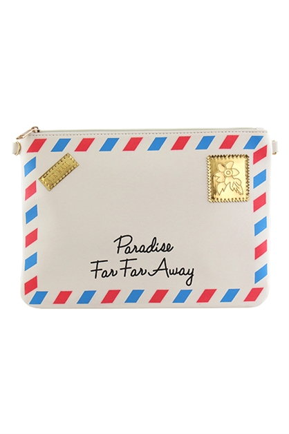 FAR AWAY ENVELOPE CLUTCH - orangeshine.com