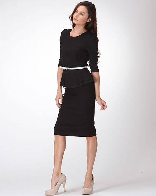 PEPLUM SKIRT SUIT - orangeshine.com