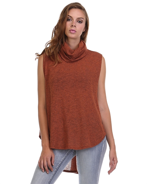 Hi-Low COWL Neck Vest - orangeshine.com