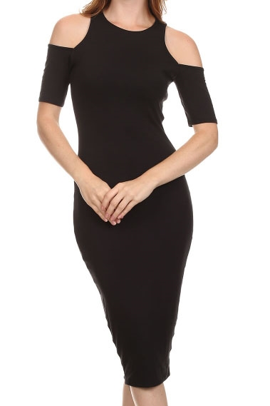 OPEN SLEEVE BODYCON DRESS - orangeshine.com