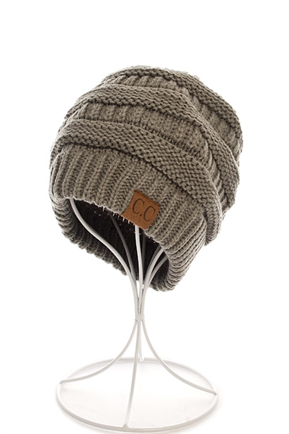 HOT TRENDY CC KNIT BEANIE - orangeshine.com